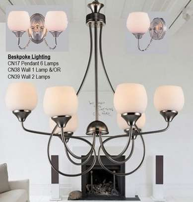 Décor Lighting - CN17 - 6 Lamp Chandelier, with CN39 - 2 Lamp & CN38 1 Lamp Wall Lamps