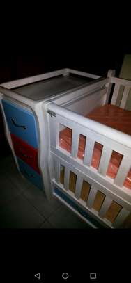 Brand new Baby cot with Mattress, cot bumper and cot net