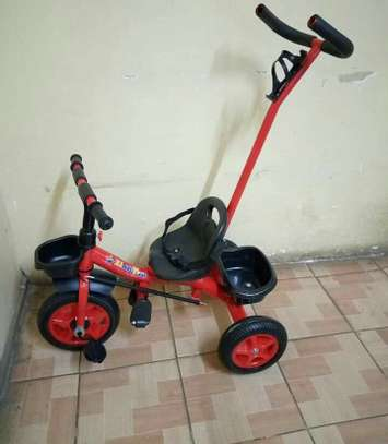 Adjustable Tricycles with handle and seat belt image 2