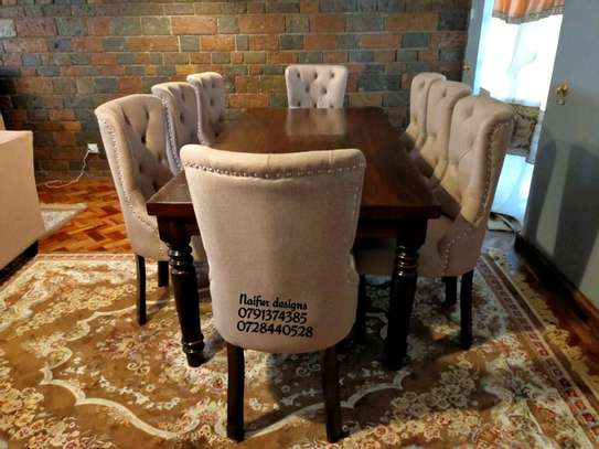 Wooden dining tables for sale in Nairobi Kenya/eight seater dining set/tufted dining chairs for sale in Nairobi Kenya image 3