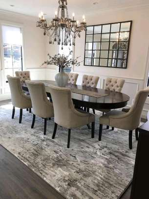 Eight seater dining table set for sale in Nairobi Kenya/Modern dining set/latest Chesterfield Dining chairs for sale in Nairobi Kenya image 1