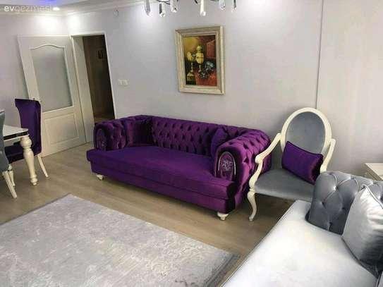 Purple sofas for sale in Nairobi Kenya/Three seater Chesterfield sofas for sale in Nairobi Kenya/Latest sofa set designs for sale in Nairobi Kenya image 1