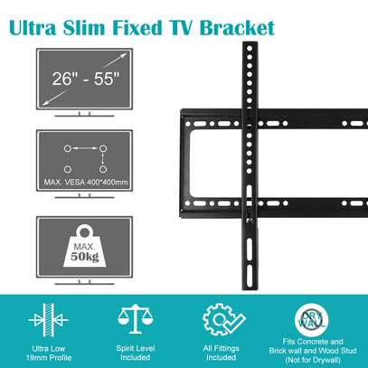 Slim TV Wall Bracket Mount Fixed For 26 40 42 46 50 52 55 Inch TV LCD LED Plasma image 4