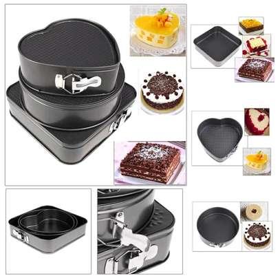 3 set of baking tins image 1
