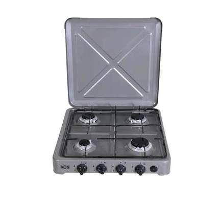 Von 0-440.S / VAC4F400S 4 Gas Cooker - Silver image 1