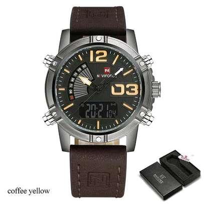 Naviforce water resistant digital analog watch image 1