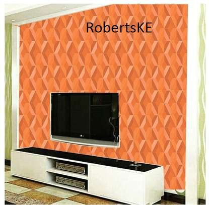 orange wall papers. image 1