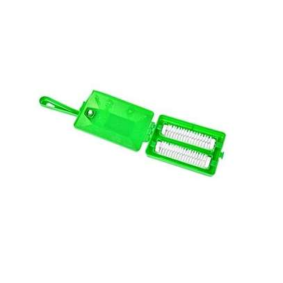 2 Row Unique Cleaning Universal Carpet Brush - Green