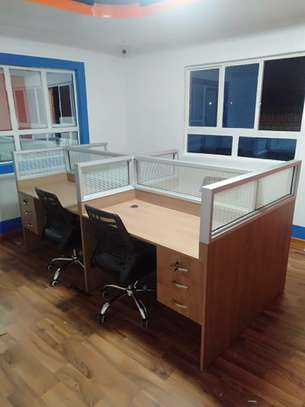 4Way Glass Partitions Workstations Ksh. 68,500.00 With Free Delivery image 2