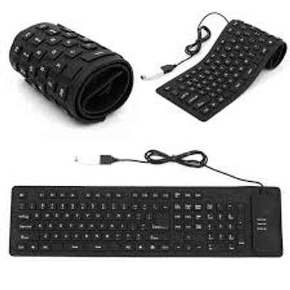 USB Wired Flexible Keyboard image 1