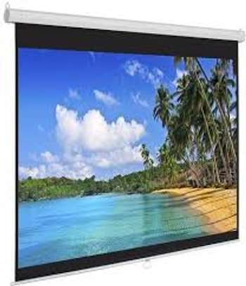 "ELECTRIC PROJECTOR SCREEN 70""X70"" MOTORIZED image 1"
