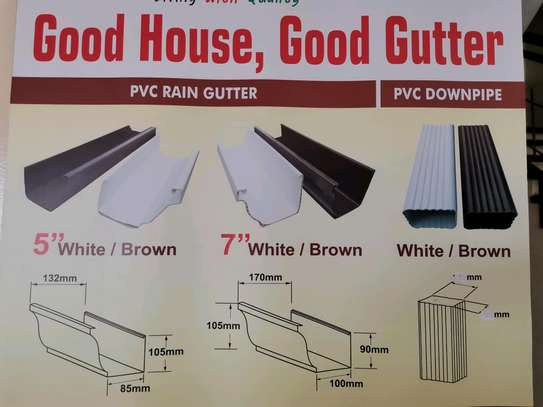Pvc Rain Gutters and Piping System image 2