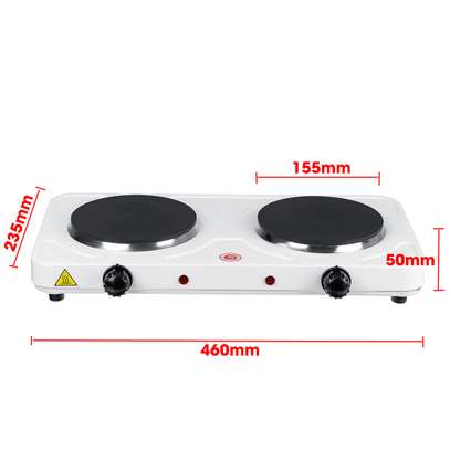 Double Electric Stove Burner HotPlate Heater Cooking image 2