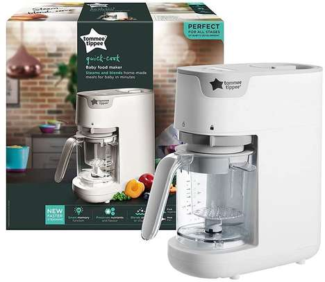 Tommee Tippee Quick Cook Baby Food Steamer and Blender, White image 2