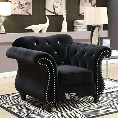Seven seater sofas/three seater sofa/ two seater sofa/one seater sofa/modern sofas/black chesterfield sofas image 2