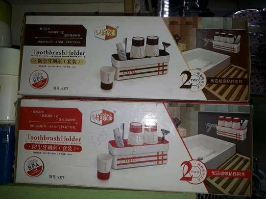 Toothpaste dispenser/toothbrush holder image 3