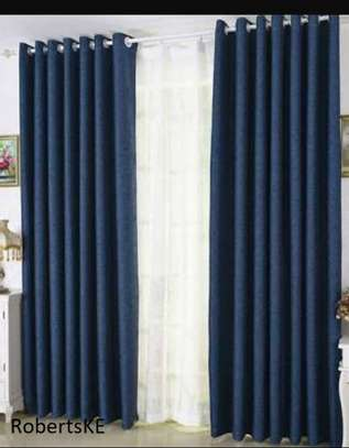 Navy blue curtains image 1