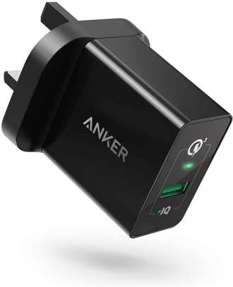 POWERPORT+ 1 WITH QUICK CHARGE 3.0, ANKER 18W 3AMP USB WALL CHARGER image 2