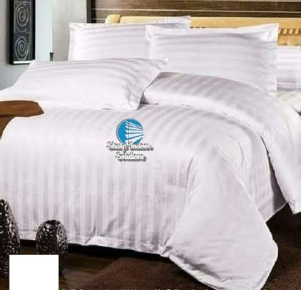 Stripped white cotton duvet covers image 6
