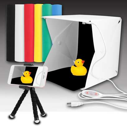 Portable Folding Lightbox LED Light Soft Box Photography Studio Softbox for Digital DSLR Camera - White image 1