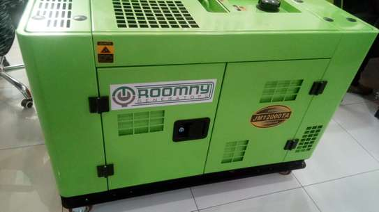 10 KW  3 phase silent Roomny Automatic diesel engine genrtator with canopy