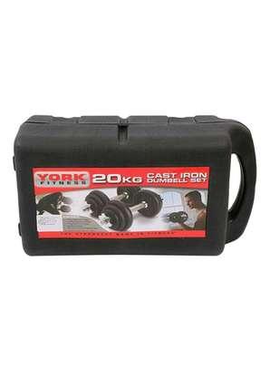20 kgs iron cast dumbbell image 3