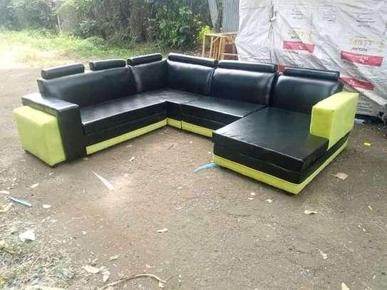 Sectional leather sofas(L-shaped and U-shaped) e) image 1