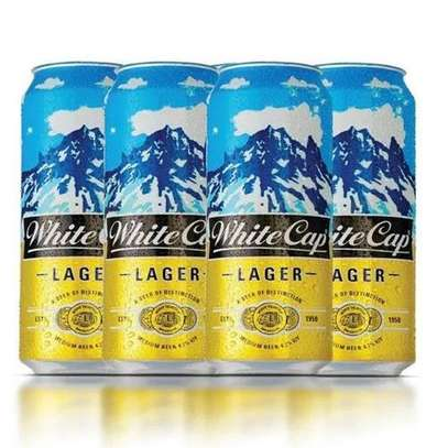 White Cap Lager Can - 500ml (6 Pack) image 1