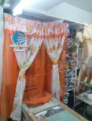 Orange kitchen curtains image 1