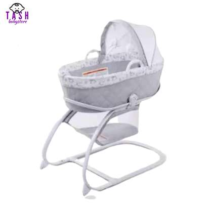 Delta Children Deluxe 2-in-1 Moses Bedside Bassinet Portable Crib image 1
