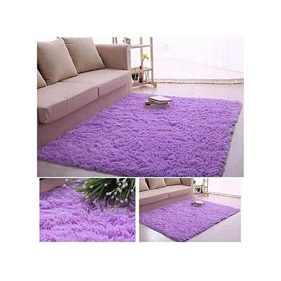 Fluffy Carpet -purple comfortable carpet