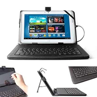 Tablet Case With Micro USB Keyboard for Samsung Galaxy Tab 2 3 4 10.1 inches image 2