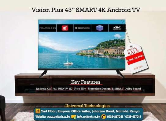 """Brand New -Vision Plus 43"""" Smart Android TV image 1"""