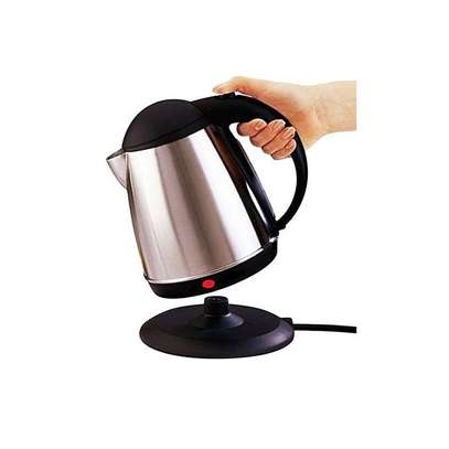 Lyons Cordless Stainless Steel Electric Kettle - 1.8 Litres - Silver & Black image 2