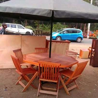 Garden table with six seats