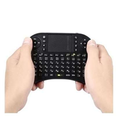 2.4G Mini Wireless Keyboard With Backlit Multi-touch Touchpad For computers,Laptops,Phones And Andriod TV Box - Black.