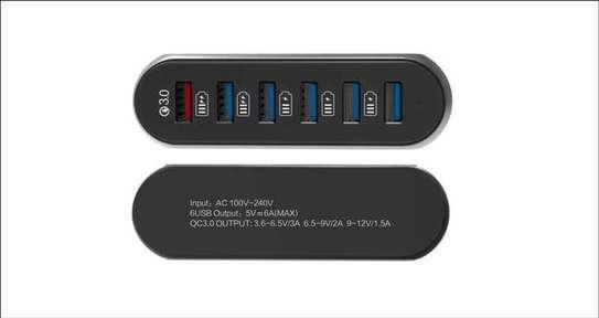iConix iC-HU2113 , CHARGER QUALCOMM 3.0 , 6-USB PORT 6-MAH image 1