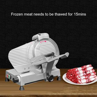 Electric Meat Slicer Cutter 10 In. Stainless Steel 240-Watts Semi-Automatic image 2