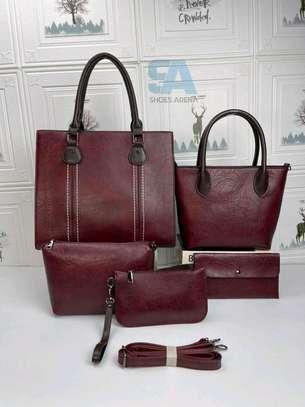 Fancy 5 in 1 Leather Handbags image 1