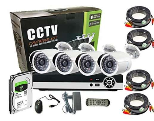 CCTV 4PC COMPLETE CAMERA KIT WITH 1TB HARD DISK image 1