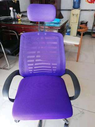 Office chair Headrest purple image 1