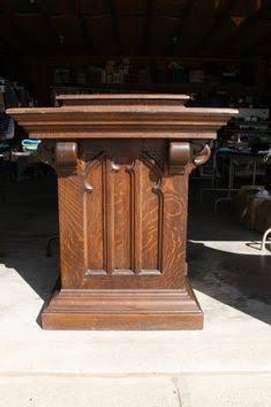 Church Mahogany Pulpits pedestals image 8