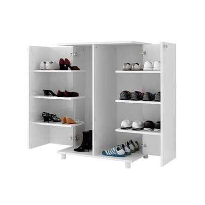Shoe Rack with 2 Doors - White , Tecno Mobili image 1