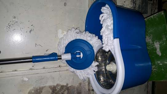 Spin mob bucket/stainless steel bucket /spin mop bucket image 1