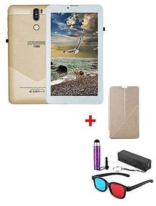 Atouch A7 Plus Kids Tablet 7 1GB Ram+16GB ROM - 4G (Dual SIM) - Gold image 1