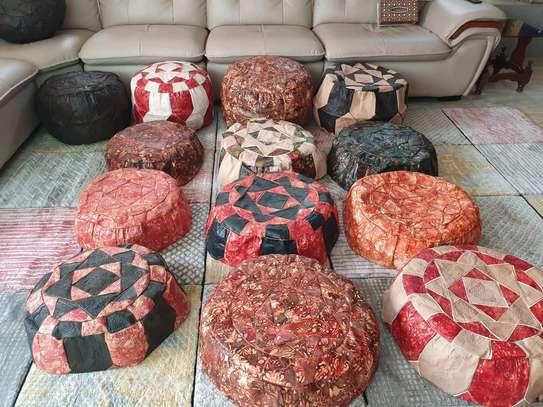 Leather Poufs image 1