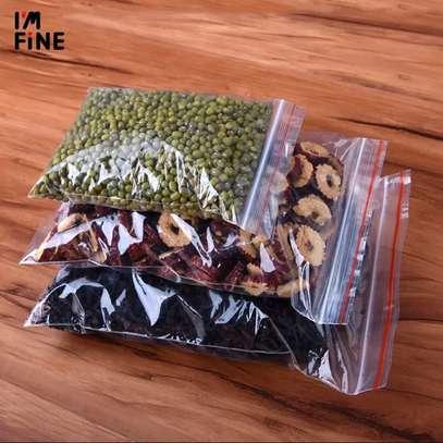 Transparent Reusable Ziplock Bags 1kg image 1