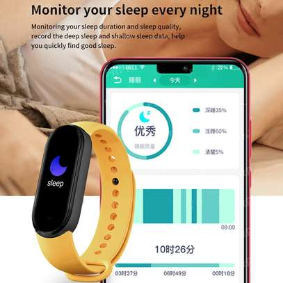 New M6 Smart Watch Fitness Tracker Band Bracelet Waterproof For Mi Trending New Arrivals Wholesale Wristband image 12