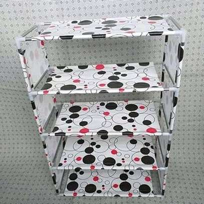 Shoe rack(White with dots) image 1