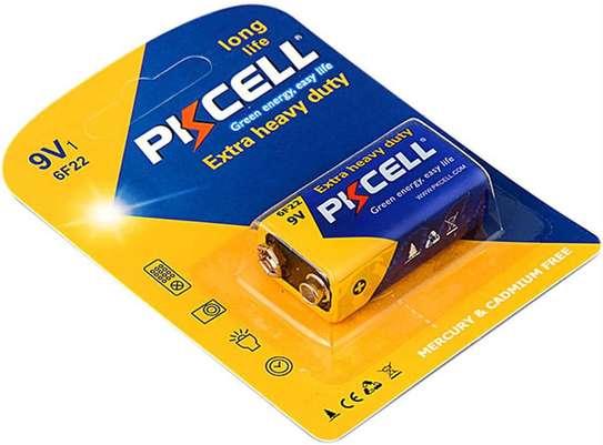 Pkcell 9V batteries heavy duty Dry Power Carbon Zinc Model 6F22.(1 piece) image 1